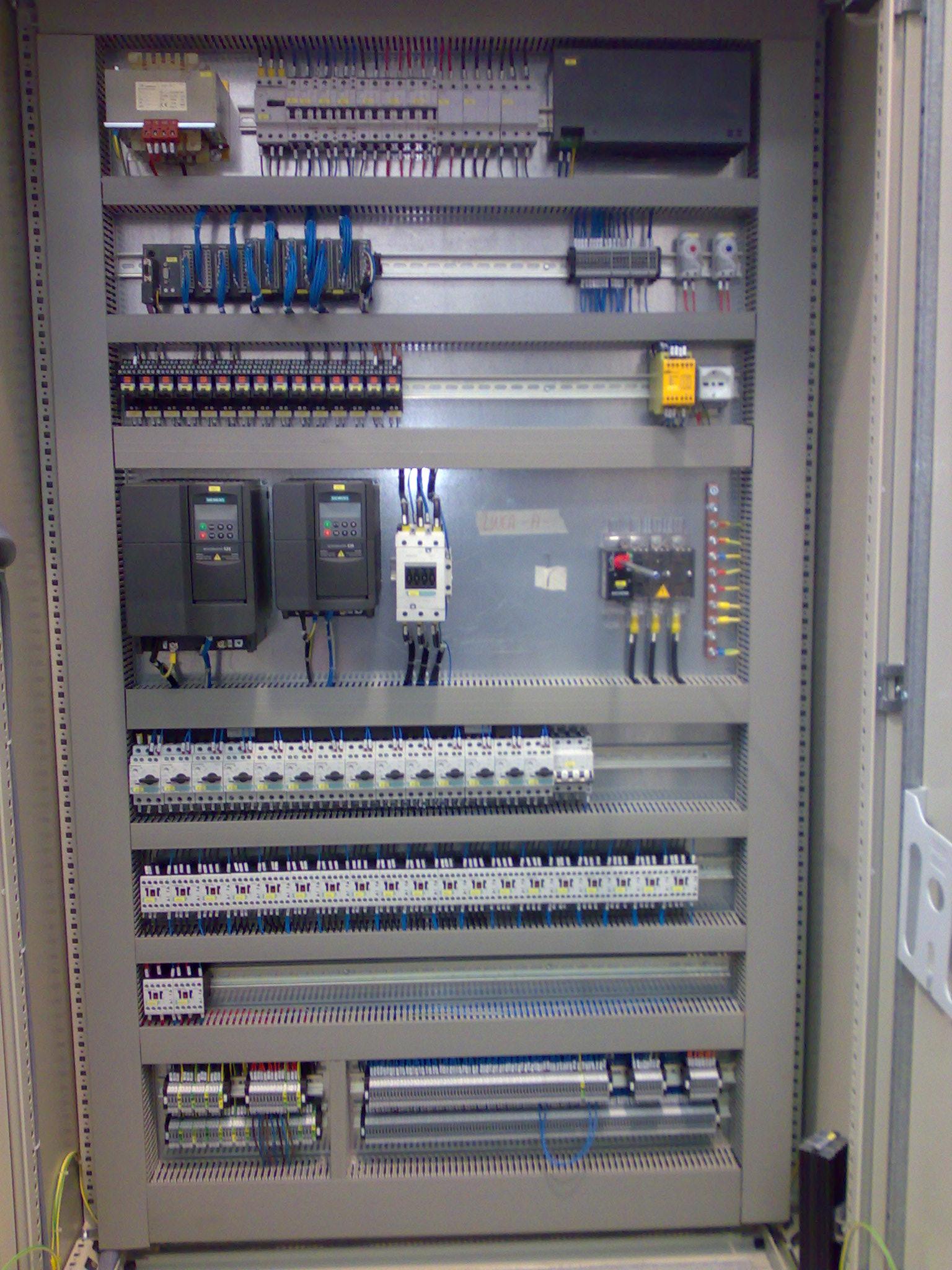Quadro elettrico gestione linea a rulli e montacarichi