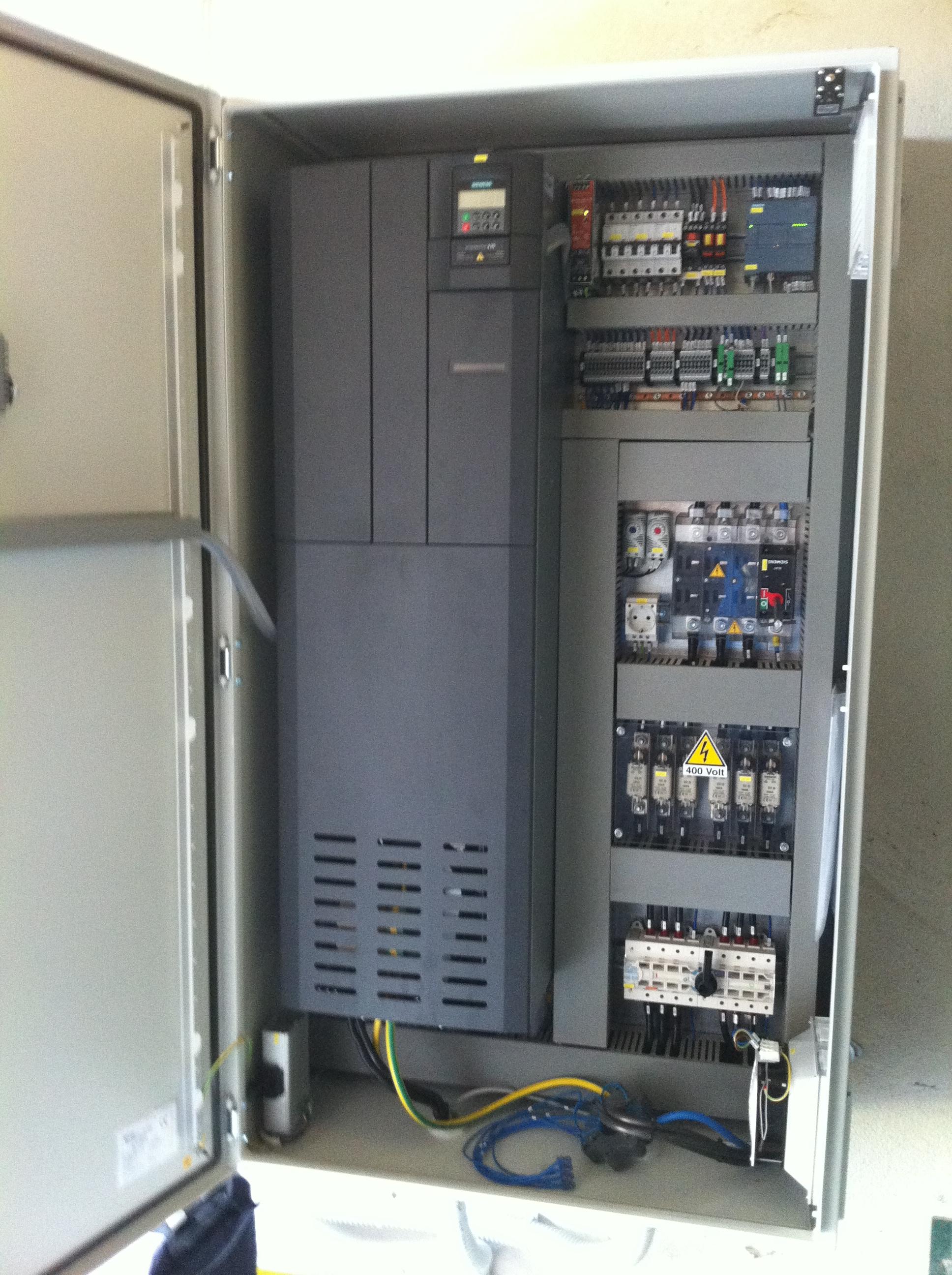 Quadro con inverter 55kW per pompa di irrigazione